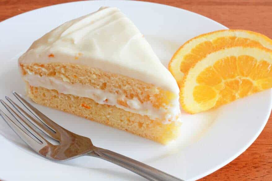 Orange Dreamsicle Cake With Cream Cheese Icing