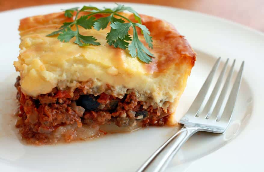 greek moussaka recipe authentic best traditional eggplant potatoes bechamel