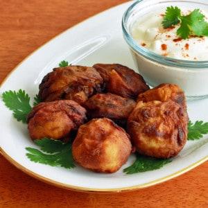 Tandoori Breaded Fried Mushrooms with Yogurt Dipping Sauce