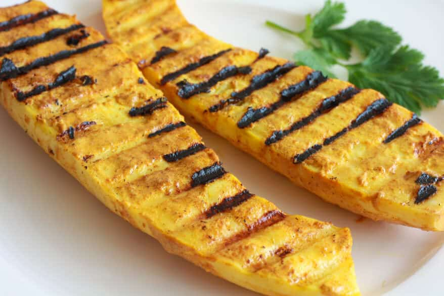 tandoori roasted grilled squash vegetables indian recipe
