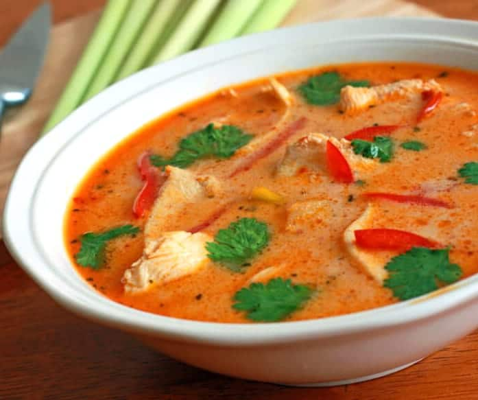 tom kha gai recipe authentic thai soup coconut chicken spicy