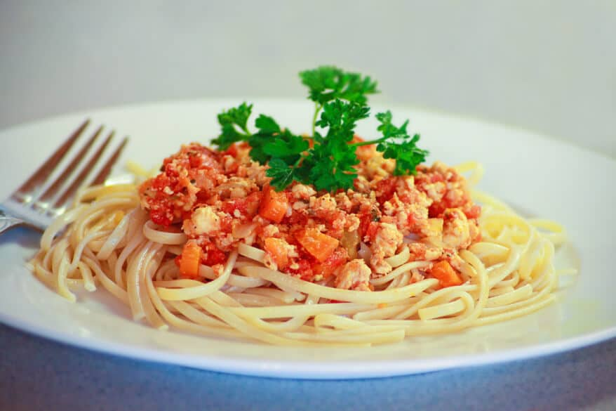 KID APPROVED! Slow cooker healthy chicken spaghetti ... |Spaghetti Bolognese Chicken