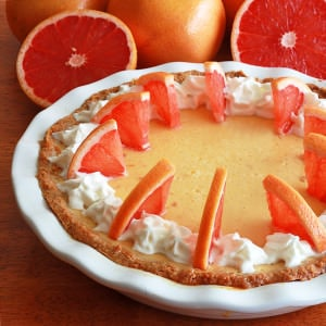 Pink Grapefruit Cream Pie