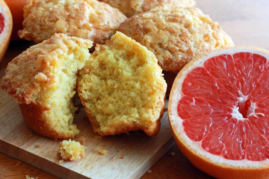pink grapefruit buttermilk muffins cupcakes recipe