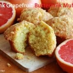 Pink Grapefruit Buttermilk Muffins