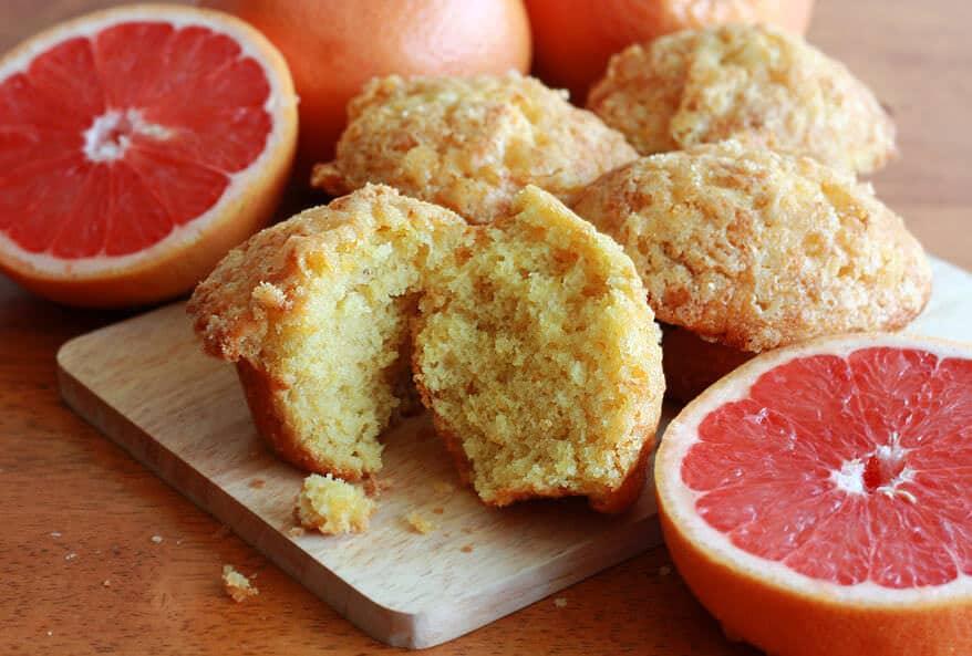 pink grapefruit buttermilk muffins cupcakes recipe