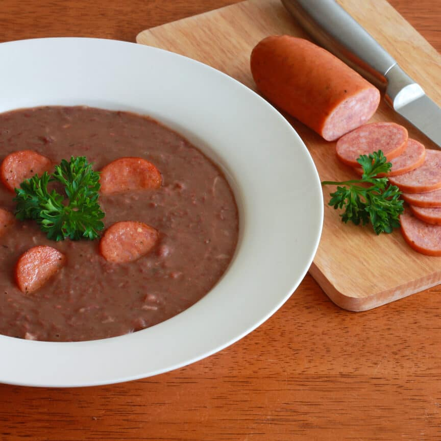 Kidney Bean Soup andouille sausage southern smoked ham hocks