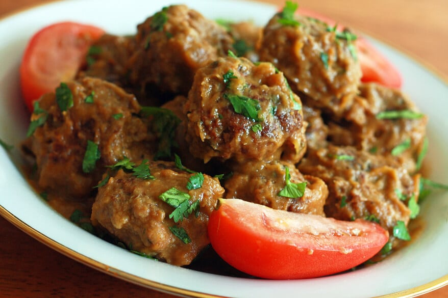 Mexican Meatballs roasted garlic chipotle tomatillo sauce