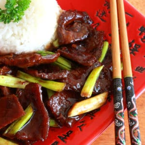 mongolian beef recipe best copycat takeout PF Chang's Chinese restaurant easy fast