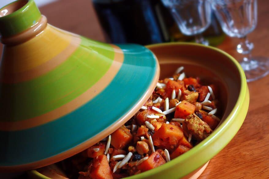 Moroccan Chicken Butternut Squash Apricot Tagine