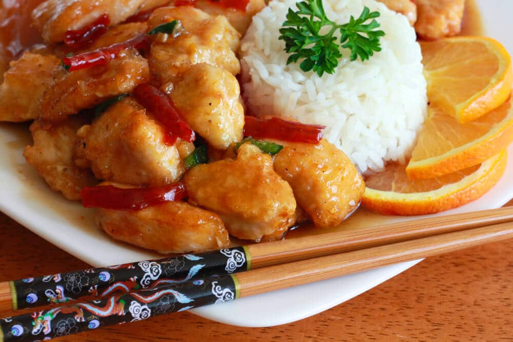 chicken orange Asian