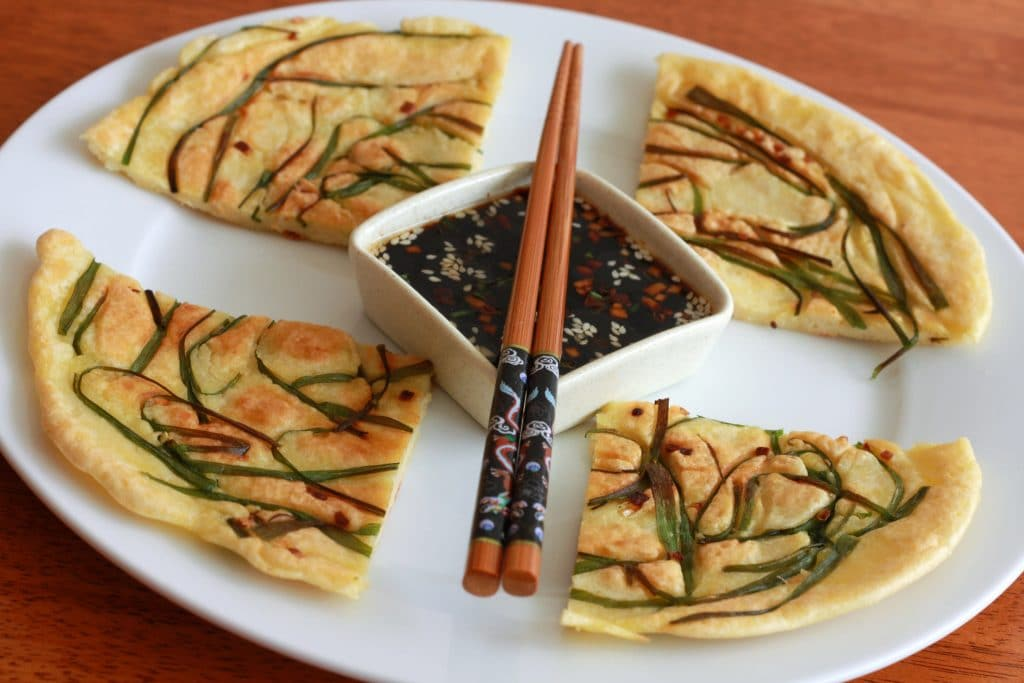 ... Scallion Pancake With Shrimp, Bacon, And Kimchi Recipes — Dishmaps