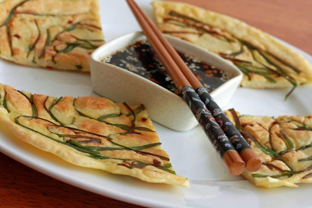 Pajeon (Korean Scallion Pancakes) Recipe - The Daring Gourmet