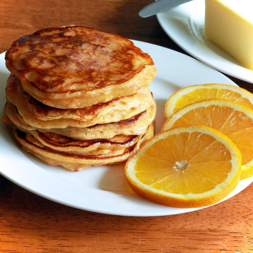 Sweet Potato Orange Pancakes