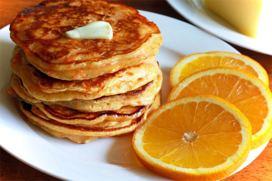 Sweet Potato Orange Buttermilk Pancakes