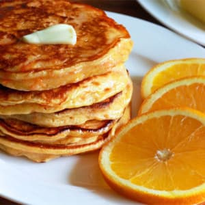 Sweet Potato, Orange and Buttermilk Pancakes