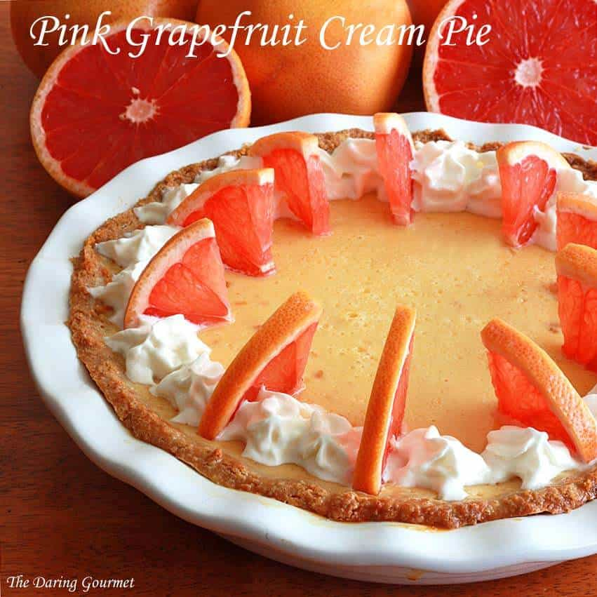 pink grapefruit pie recipe cream creamy