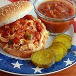 Barbecued Pulled Pork or Chicken Sandwiches