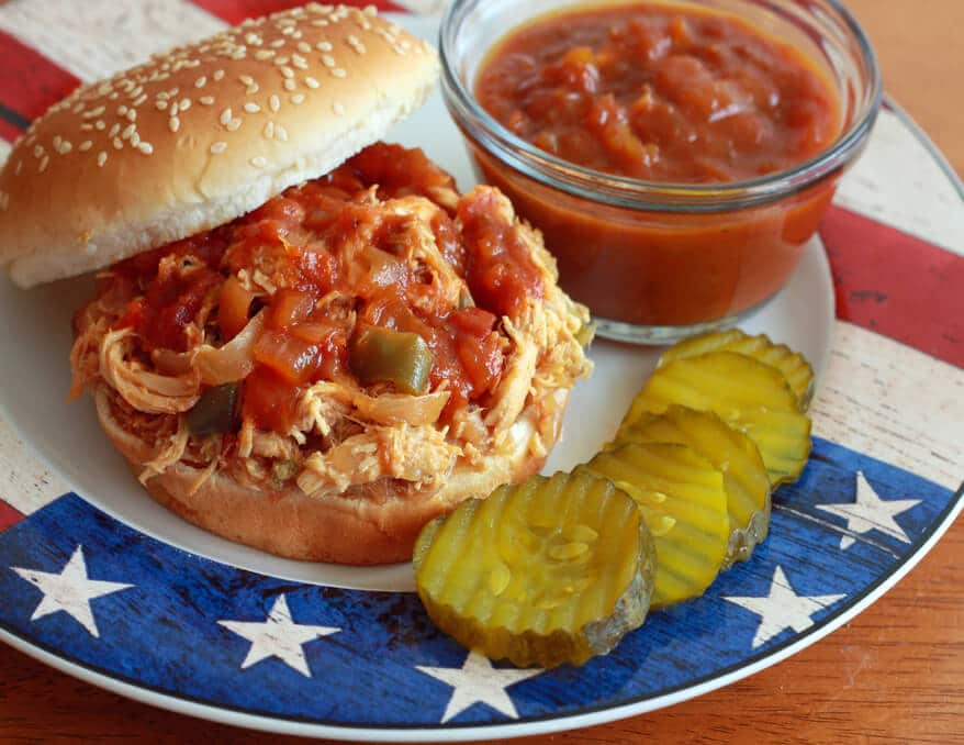Barbecued Pulled Chicken Sandwiches Recipe