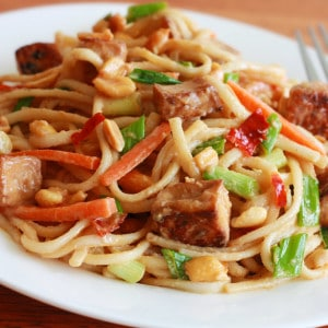 Thai Peanut Tofu or Chicken Noodles
