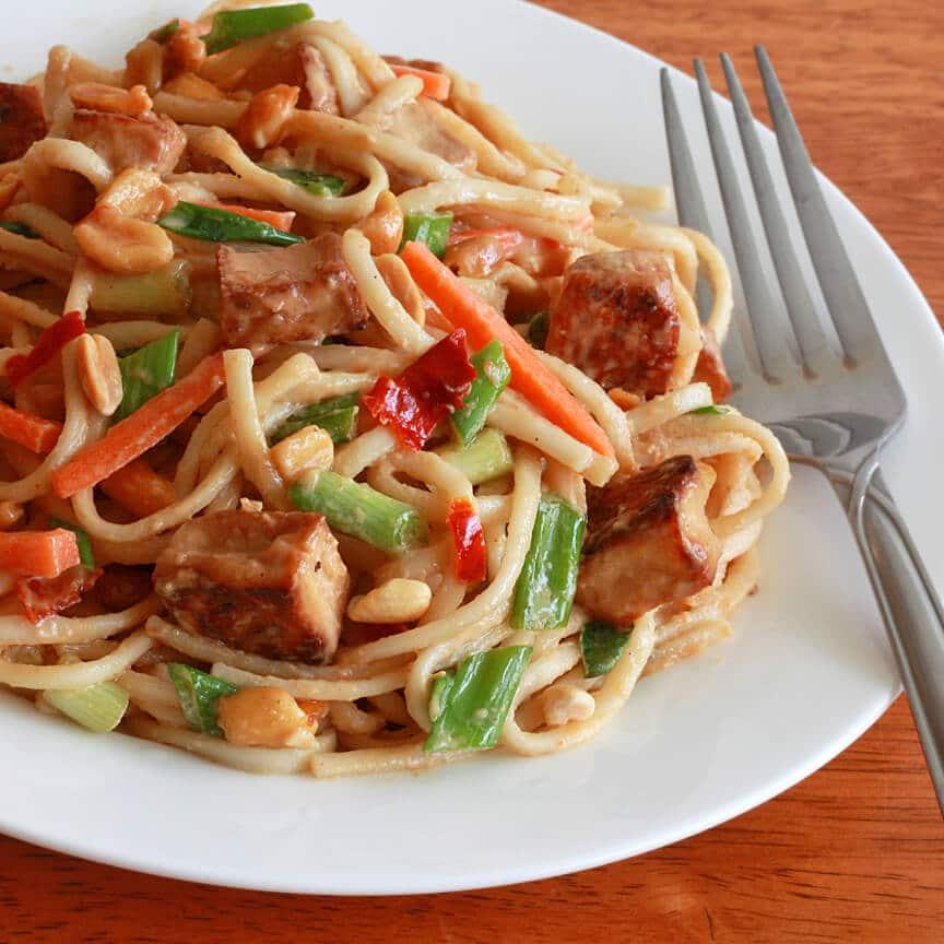 Thai Peanut Tofu Chicken Noodles 2 final