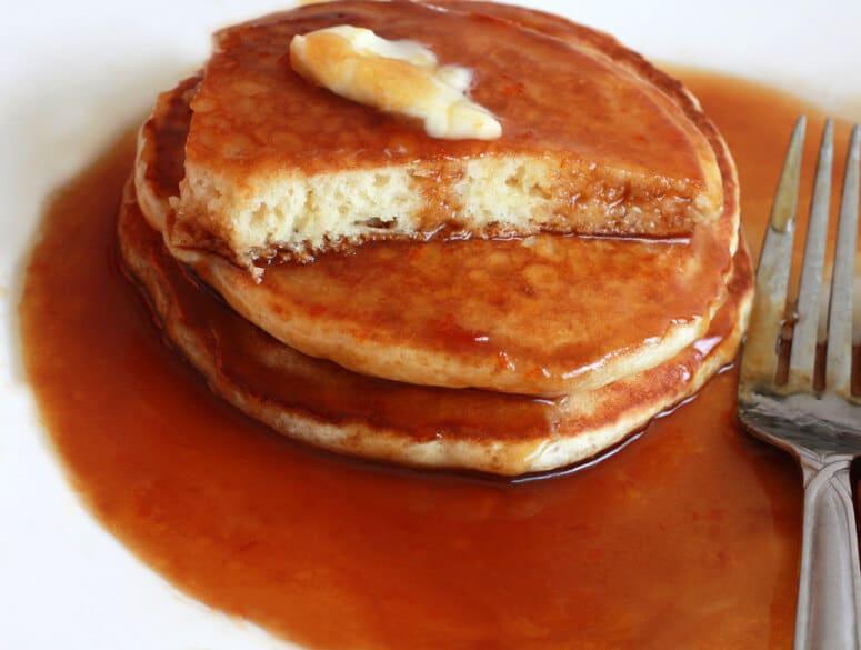 Caramel Orange Buttermilk Syrup pancakes 4 final