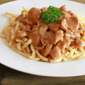 Geschnetzeltes (Creamy German Hunter's Sauce)