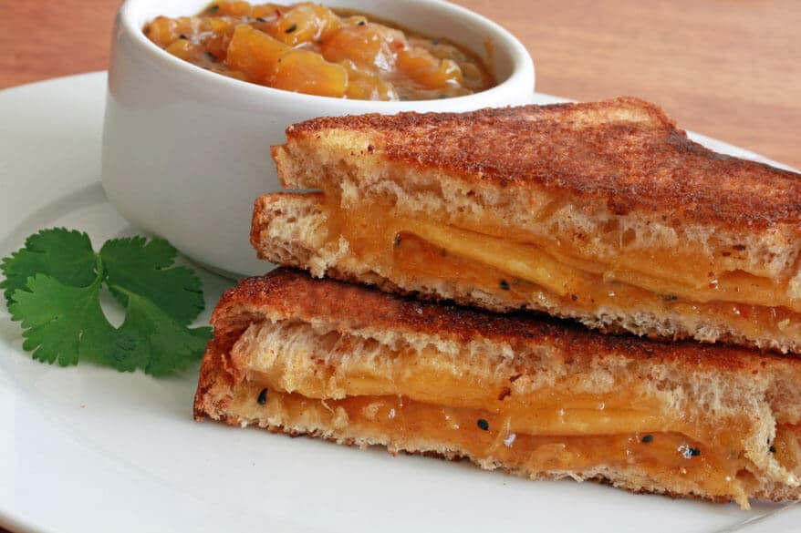 Grilled Cheese Mango Chutney Sandwich 2