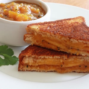 Grilled Cheese and Chutney Sandwiches