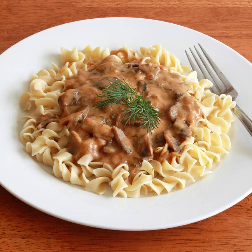 hungarian mushroom sauce pasta recipe