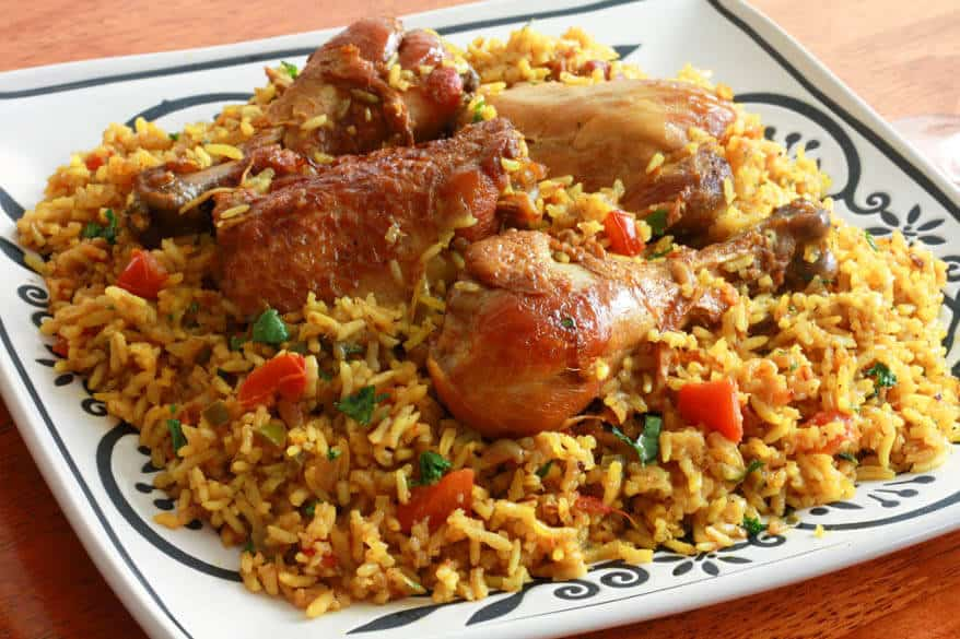 Machboos ala ajaj Bahrain chicken and rice biryani kabsa authentic traditional