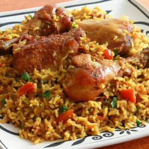 Chicken Machboos Bahraini spiced rice authentic traditional Bahrain recipe