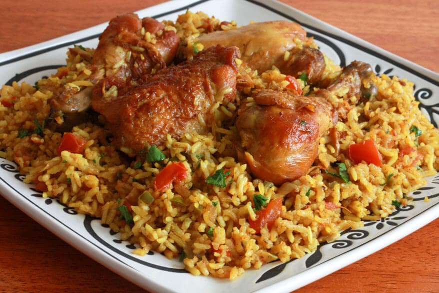 Chicken machboos bahraini chicken rice the daring gourmet machboos ala ajaj bahrain chicken and rice biryani kabsa authentic traditional forumfinder Image collections