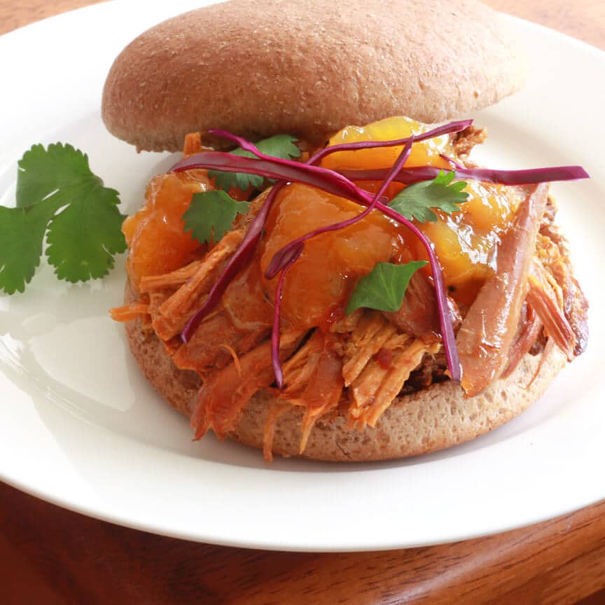 Pulled Mango Chicken Sandwiches 1