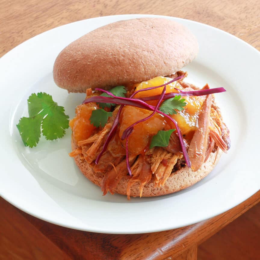 Pulled Mango Chicken Sandwiches 2