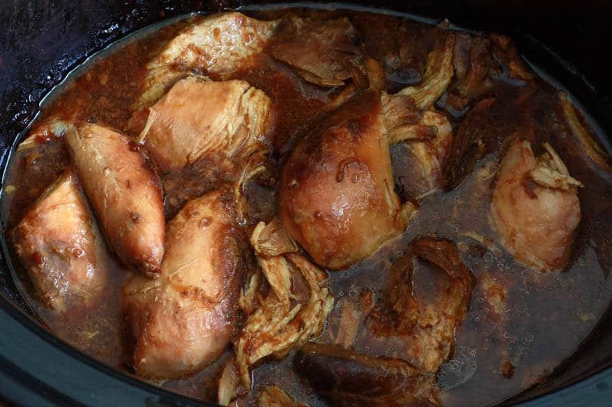 Pulled Mango Chicken Sandwiches prep 6
