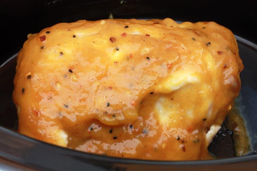 Pulled Mango Chicken Sandwiches prep 9
