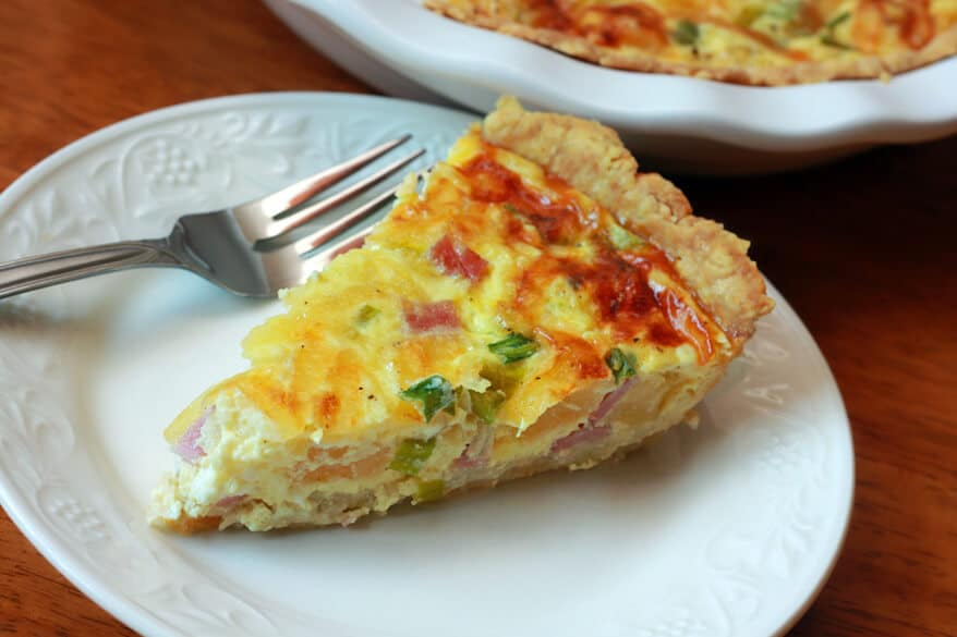Canadian Bacon Pineapple Quiche