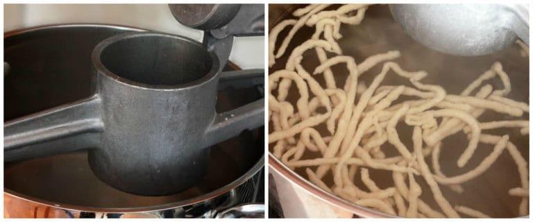 homemade spaetzle