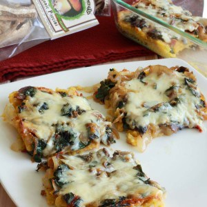 Baked Polenta with Mushrooms, Bacon and Swiss Chard