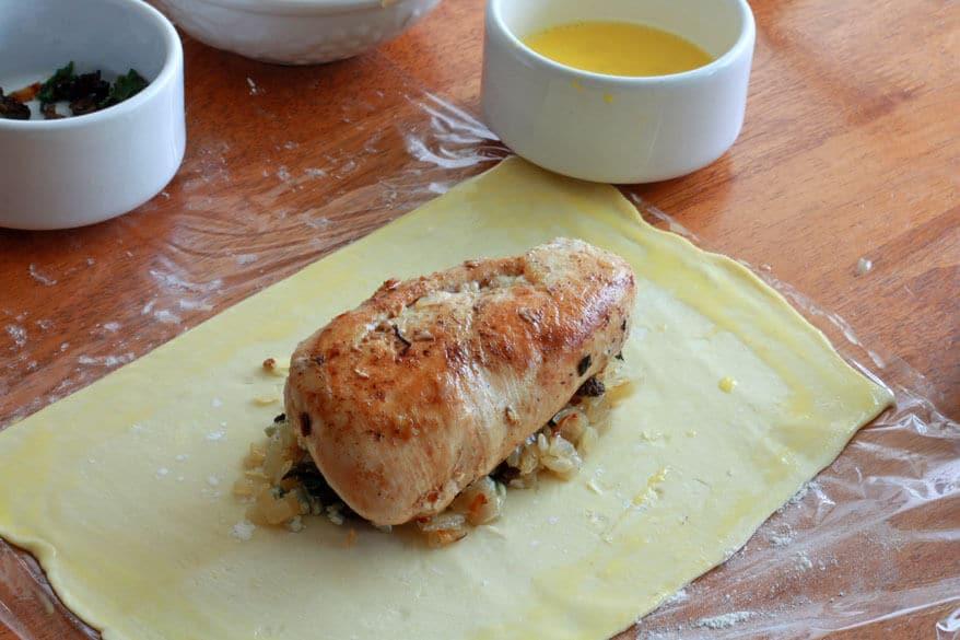 Chicken Wellington prep 19