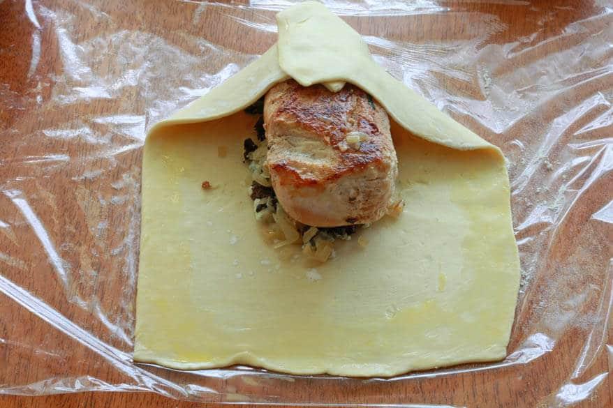 Chicken Wellington prep 20