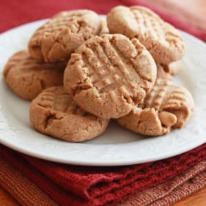 healthy peanut butter cookies recipe whole wheat grain coconut oil wheat germ oat bran flax seeds