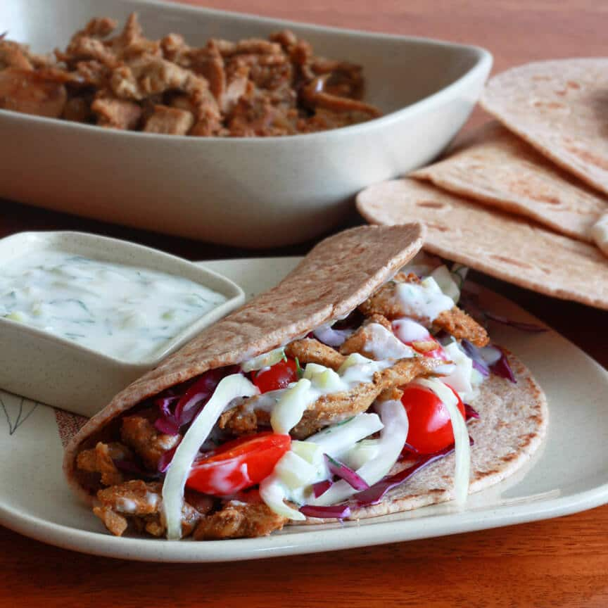 Gyros with Tzatziki sauce recipe