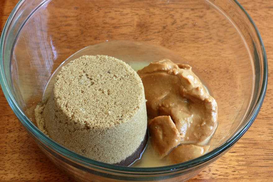 Peanut Butter Cake prep 1