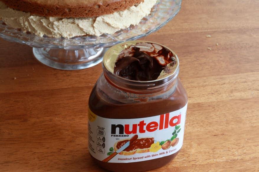 Peanut Butter Cake prep 17