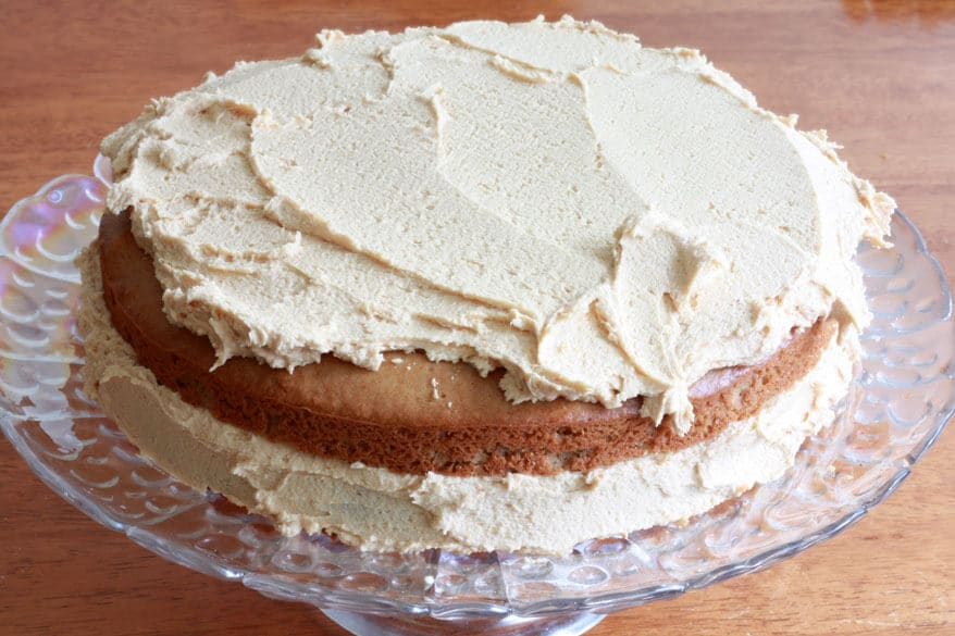 Peanut Butter Cake prep 18