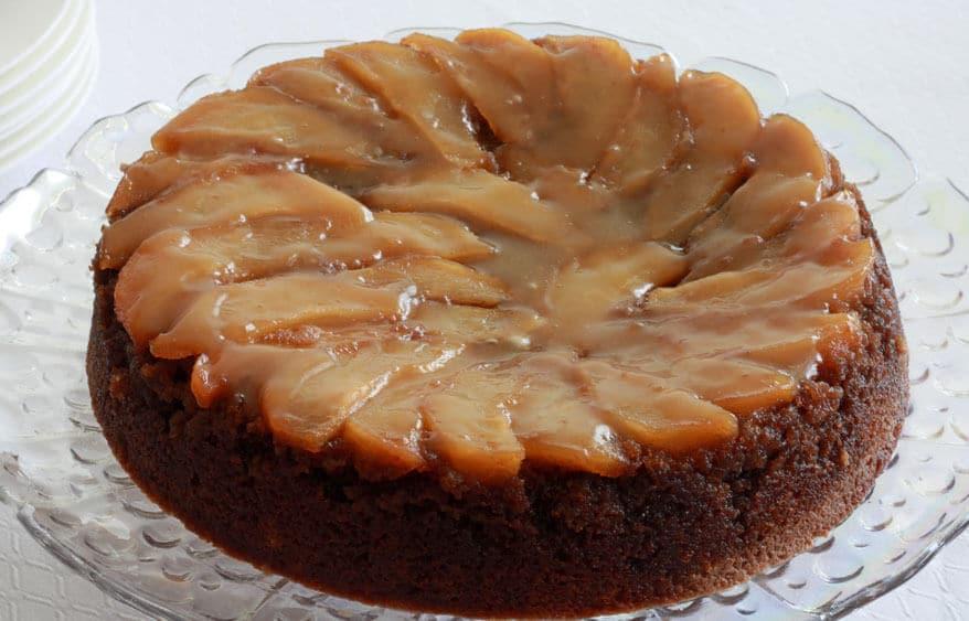 Pear Upside Down Cake prep 16