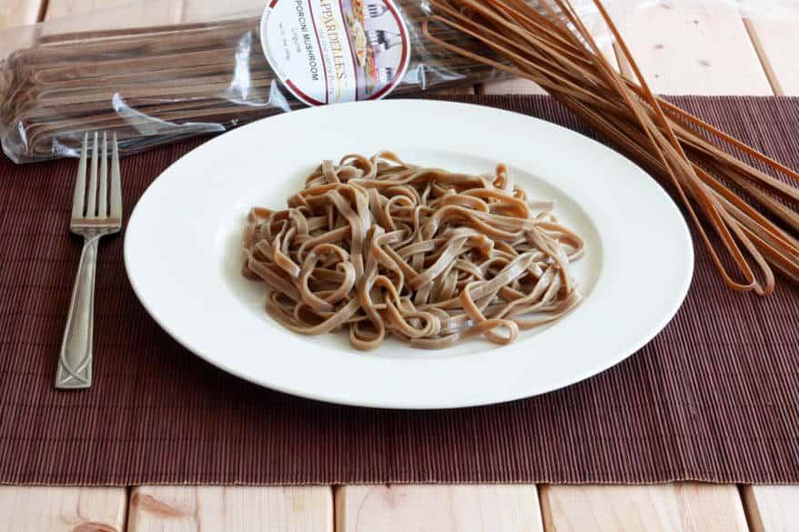 Porcini Mushroom Pasta prep 10
