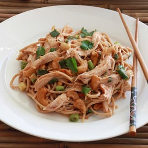 Sichuan Chicken and Cashew Noodles